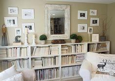 A Shabby Chic Living Room – Decorating On a Budget – Shabby Chic Talk Shabby Chic Living Room, Living Room Decor, Living Area, Decorating On A Budget, House Rooms, Decoration, Bookshelves, Diy Home Decor, Interior Design