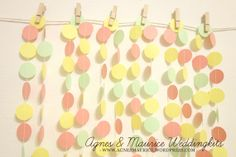 80 inches Party Garland  Wedding / Party Props / by AgnesMaurice, $15.80
