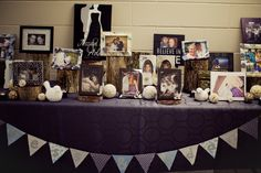 Picture table of Bride and Groom