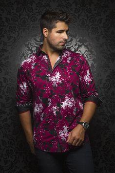 Stylish Shirts, Casual Shirts, Mens Shirts Sale, Designer Clothes For Men, Wine, Long Sleeve Shirt Dress, Fashion Forward, Shirt Designs, Fashion Trends