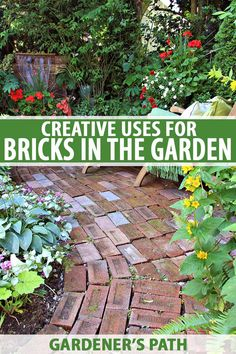 Brick garden - 15 Creative Ways to Use Bricks in Garden Design – Brick garden Outdoor Landscaping, Front Yard Landscaping, Landscaping Ideas, Landscaping Plants, Brick Garden, Tall Plants, Landscape Designs, Garden Pests, Flora