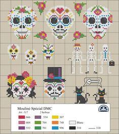 Punto cruz #dia de los muertos #México #embroidery