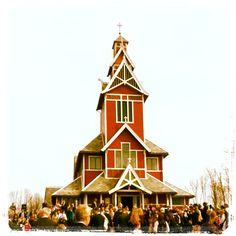 Buksnes church, Gravdal, Lofoten, Norway