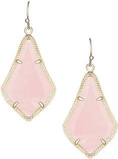 Kendra Scott Alex Rose Quartz Earrings, Rose