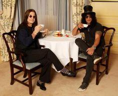 Ozzy Osbourne and Slash