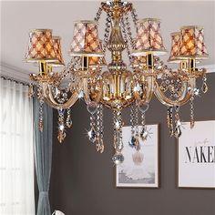 Lustre baroque en cristal suspension ambre pour salon chambre hôtel Lustre Antique, Lustre Baroque, Le Tube, Transparent, Chandelier, Ceiling Lights, Lighting, Home Decor, Study Rooms