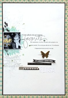 #Papercraft #scrapbook #layout. favorite by Maïna at @studio_calico