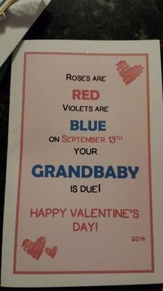 Baby announcement to husband christmas gender reveal ideas Valentines Pregnancy Announcement, Creative Pregnancy Announcement, Husband Pregnancy Announcements, Reveal Pregnancy To Husband, Pregnant Announcement To Husband, Pregnant Announcements, Baby Surprise Announcement, Cute Baby Announcements, Baby On The Way