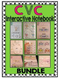 CVC WORD FAMILY INTERACTIVE NOTEBOOK BUNDLE - TeachersPayTeachers.com