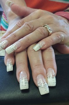 Solar Nails With A Simple Design Beauty Pinterest Solar Nails