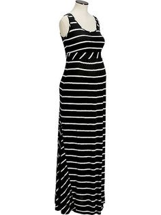 67ffcb91f6 Old Navy Maternity Striped Maxi Tank Dresses #333406 #Blackstripe  #maxidressoldnavy #OldNavyMaternityStripedMaxiTankDresses #