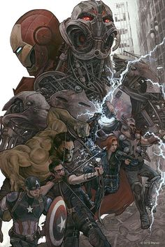 Avengers; The Age of Ultron by A.J. Frena *  Why does Ultron have to look so cool...?