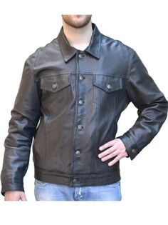 Giacca in Vera Pelle da Uomo mod. Mich - Pellein.com - Leather Jacket for Man