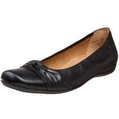 $195.00-$195.00 Gabor Women's Comfort Shoe Ballerina Flat,Schwarz,4.5F(M)UK/6.5B(M)US - Heel Height: Approx.1/2'' Tall. Add graceful ease to your day in the Gabor 02-611 slip-on shoe. The sleek leather upper of this women's ballerina-style flat features an elegant, pleated twist at the vamp. A smooth leather lining and cushioned footbed lend enhanced interior comfort to the Gabor 02-611 casual sho ...