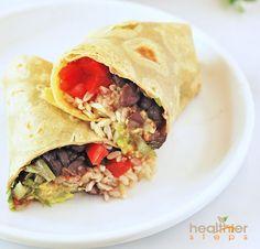 Vegan Black Bean Burrito (Gluten Free)