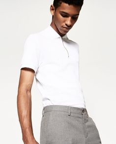 ZARA - MAN - POLO SHIRT WITH ZIP
