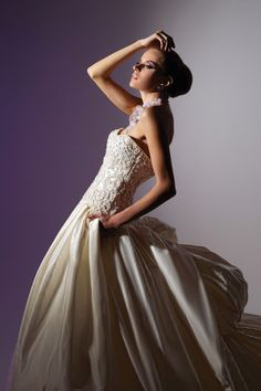 Victor Harper - Couture  Designer Bridal Gown - Style VHC228