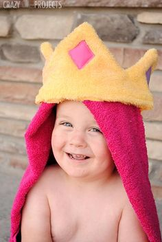 DIY Children's : DIY Princess Hooded Towel