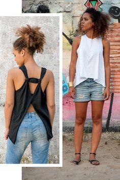 Sudaderas - Triangle Organic Top Negro y Blanco - hecho a mano por KOKOworld en DaWanda #DaWanda #hechoamano #diseño #handmade #DIY #moda #fashion #vestido #camiseta #calzado