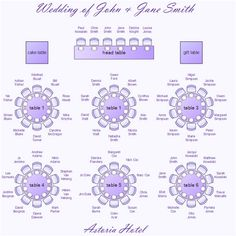 wedding seating charts template