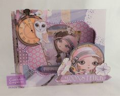 Diana Clews - Moonstruck Shadow Box card. - Verity Rose CD: Moonstruck Card Companions 3 - Centura Pearl Snow White Hint of Gold - Pearls - #crafterscompanion