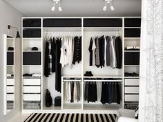 Dressing IKEA wardrobe Forum mode homme de Comme un camion Hanging Wardrobe, Ikea Pax Wardrobe, Ikea Closet, Wardrobe Design Bedroom, Bedroom Wardrobe, Wardrobe Ideas, Wardrobe Planner, Pax Planner, Closet Ideas