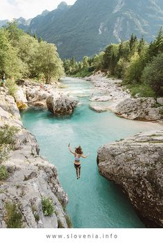 Soča valley - the emerald green river with countless special features Ice climbing waters trip ships kayaking Montenegro Travel, Slovenia Travel, Green River, Rafting, Cool Places To Visit, Places To Travel, Largest Waterfall, Lake Bled, Ice Climbing