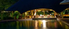 Order your drink straight from the swimming pool. Swim Up Bar, Thatched Roof, Lodges, Perfect Place, Safari, Maine, Swimming Pools, Places, Cabins
