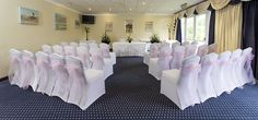 Pink sash's on chair covers at The Ashford Suite, Function Room, North Devon, Short Break, Chair Covers, Ceiling Lights, Star, Luxury, Pink, Home Decor