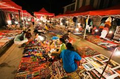 The laidback night market is as hectic as it gets in lovely Luang Prabang. Image by Anders Blomqvist / Lonely Planet Images / Getty Images