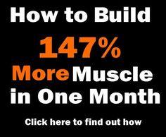 Jak budovat svalovou hmotu