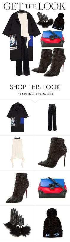 """""""Get The look: Winter Style"""" by takenuser ❤ liked on Polyvore featuring Lanvin, Marni, Christian Louboutin, Versace, Maison Fabre and Bow & Drape"""