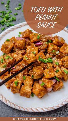 Vegan Dinner Recipes, Veggie Recipes, Asian Recipes, Cooking Recipes, Healthy Recipes, Firm Tofu Recipes, Vegetarian Recipes Tofu, Tufu Recipes, Korean Tofu Recipes