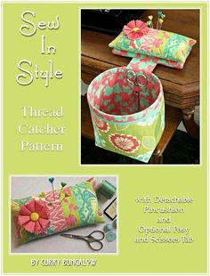 Looking for your next project? You're going to love Sew In Style Thread Catcher Pattern by designer Curry Bungalow. - via @Craftsy
