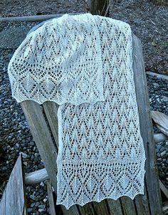 Ravelry: Estonian Flamingo Lace pattern by Melinda VerMeer Filet Crochet, Irish Crochet, Crochet Lace, Crochet Dresses, Lace Knitting Patterns, Hand Knitting, Stitch Patterns, Knitted Shawls, Lace Shawls