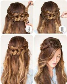 penteado simples para casamento passo a passo - Pesquisa Google
