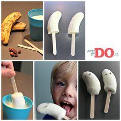 Bevroren yogurt banaan spookjes