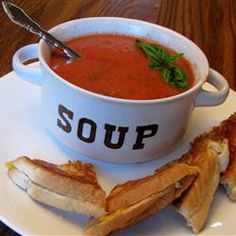 Rachel's Tomato Basil Soup Recipe from allrecipes.com. I want to try ...