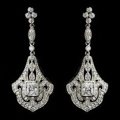 bridal jewellery and bridal hair accessories - Wedding Bridal Earrings