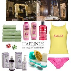 A beauty collage from December 2012 featuring body moisturizer, hair conditioner and hair shampoo. Browse and shop related looks. Hair Shampoo, Bubble Bath, Hair Conditioner, Loreal, Lilac, Moisturizer, Bubbles, Bed, Polyvore
