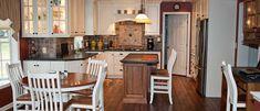 Breckenridge door style in Maple finished in Buttercream