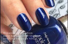Sally Hansen Soothing Sapphire Purple Nail Polish, Blue Nails, Nail Polish Colors, Sapphire Nails, Sapphire Color, Sally Hansen Color Therapy, Color For Nails, Sally Hansen Nails, Nails 2017