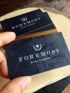 Stunning black business card with black foil and gold edges #jukeboxprint #businesscards