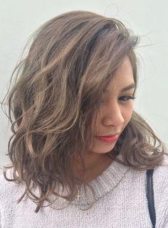 透明感たっぷりカーキ グレージュ【L.O.G by U-REALM(ログ バイ ユーレルム)】 https://www.beauty-navi.com/style/detail/35907?pint ≪#haircolor #hairstyle #color #ヘアカラー #ヘアスタイル #髪形 #髪型 #カーキ #khaki #オリーブ #olive≫