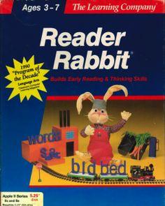 1986 The Learning Company Reader Rabbit CD-ROM