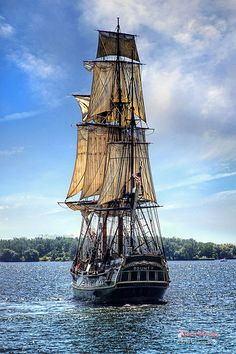 There is something special about sailing boats. Artist: Charles Bodi; Title: Bounty 2. From Flickr; artist page, select Sets, then choose Sail Ships.