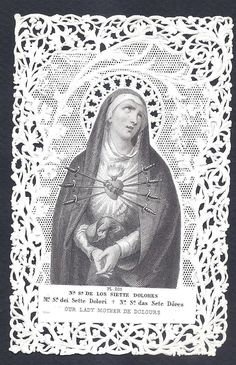 Our Lady seven sorrows swords