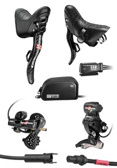 Campagnolo electronic shifting, interesting & cool but not sure how it would work out with use.