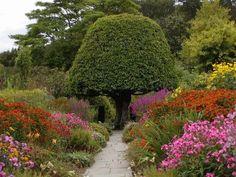 Crathes Castle garden in Scotland