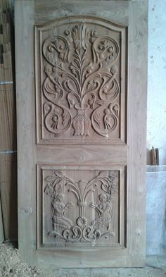 Carved Wooden Door in Indore Madhya Pradesh India - Manufacturer & Exporters of Carved Wooden Door offered by Manglam Timber, Indore, India Main Door Design, Wooden Doors, Wood Doors, Indian Doors, Entrance Doors, Wood Carving Furniture, Door Manufacturer, Front Door Design